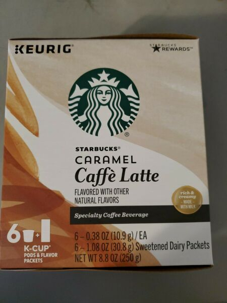 *CLEARANCE *4 24 Starbucks K Cups Pods Caramel Caffe#x27; Latte Best By 7 2020