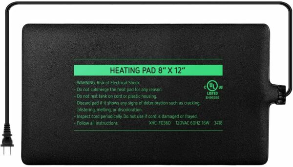 VIVOSUN Reptile Heating Pad 16W Under Tank Heater for Tropical and Temperate $15.19