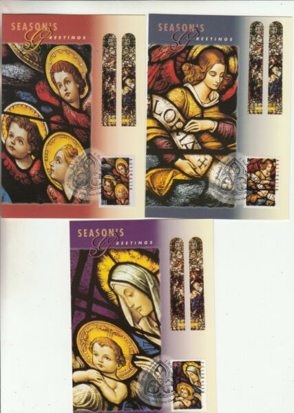 1995 Christmas set of 3 maxi cards. Cost $3.50. Retail $7.00.Going Cheap AU $1.99
