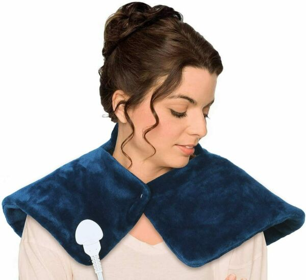 """Electric Heating Pad for Neck amp; Shoulder Pain Relief 18"""" x 25"""" $26.99"""