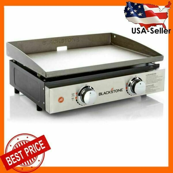 Blackstone 22quot; Tabletop Grill 2 Burner Propane Griddle for Outdoor Cooking