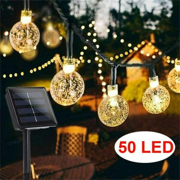 50 LED Solar String Lights Patio Party Yard Garden Wedding Waterproof Outdoor $14.99