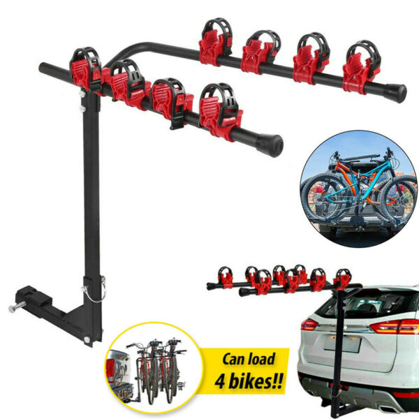 4 Bicycle Bike Rack 1 1 4quot; 2quot; Hitch Mount Carrier for Car Truck Auto SUV Swing $54.99