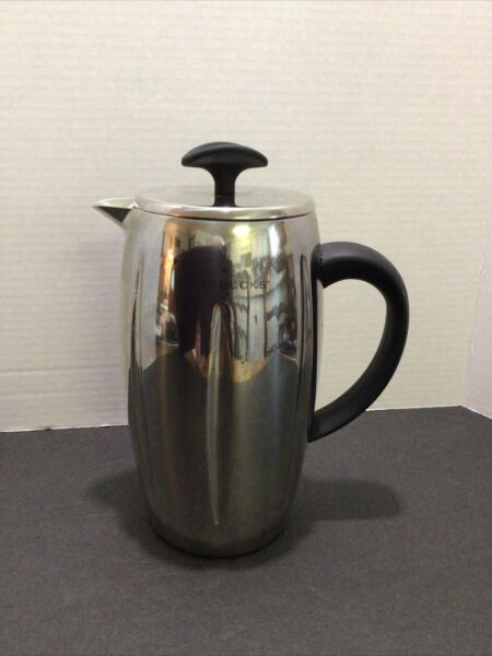 STARBUCKS COFFEE BARISTA Stainless Steel Insulated French Press Coffee Pot