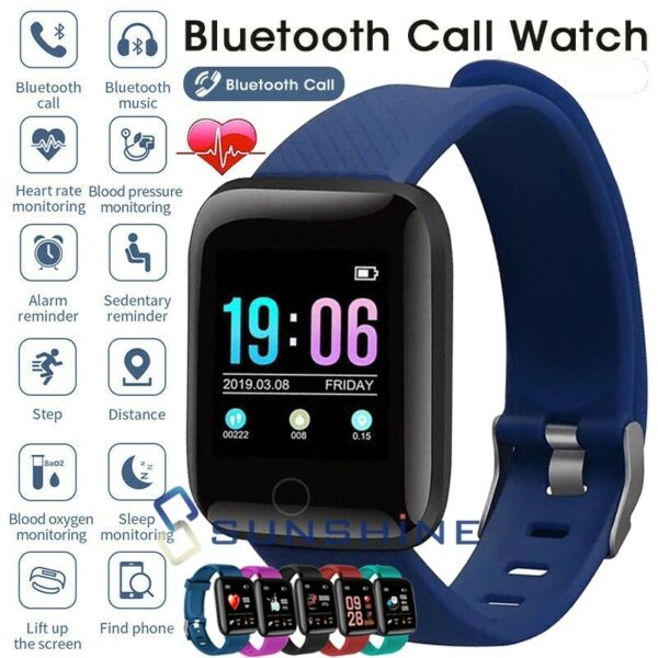 2021 Bluetooth Smart Watch Sports Fitness Tracker Phone Mate For iPhone Android $18.69