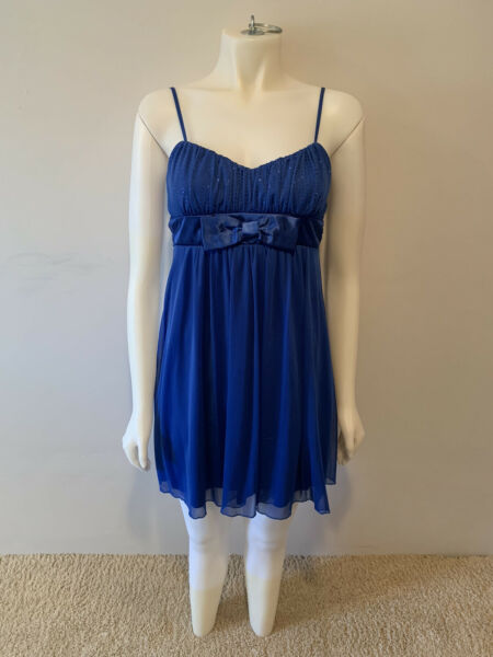 Short Blue Prom Cocktail Dress Size Medium