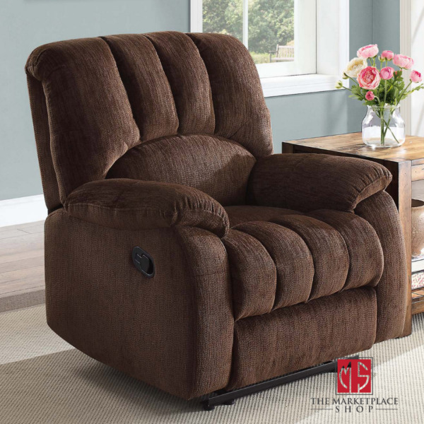 Deluxe Padded Recliner Comfort Lazy Boy Style Chair Brown New $371.95