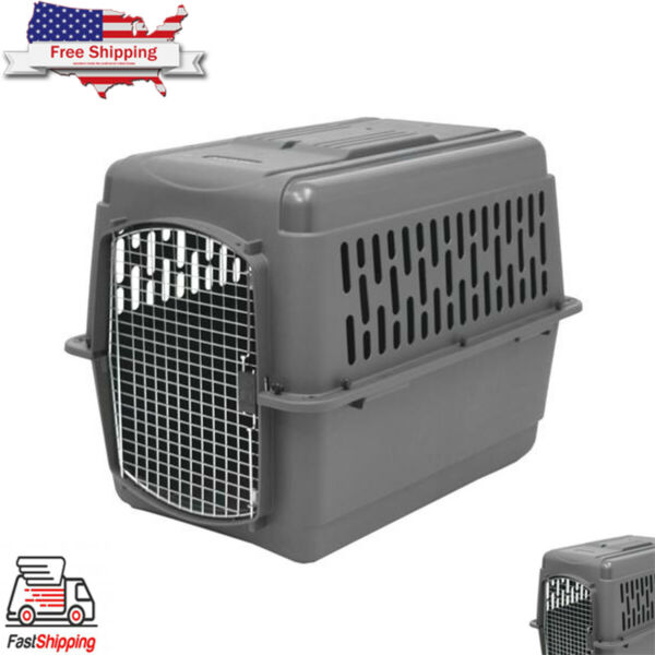 X Large Dog Crate Carrier Kennel Durable Ventilated Plastic Transport Portable $154.99