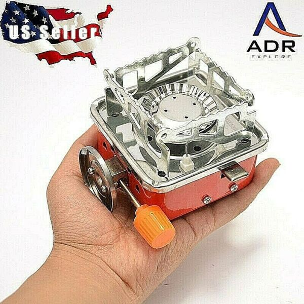 Outdoor Portable Multi Fuel Gas Stove Stainless Steel Camping Cooking burner.
