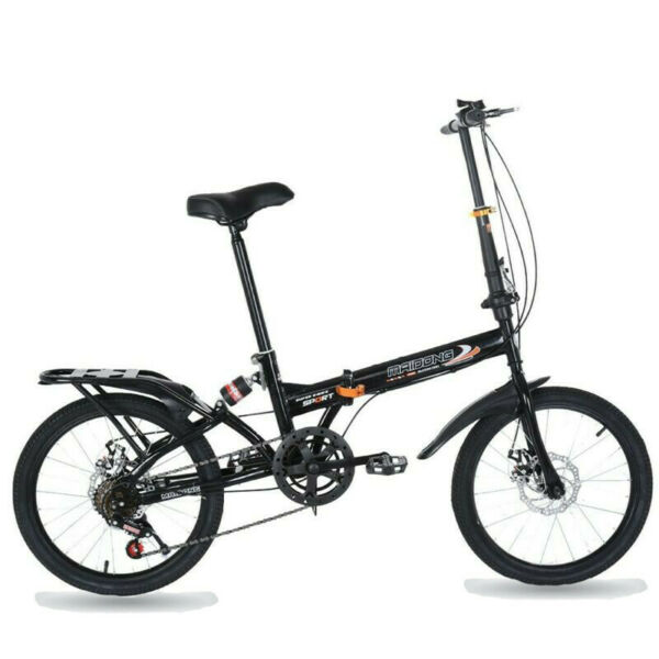 Portable Bike Steel City Commuters Folding Compact Suspension City US 7 Speed $119.99