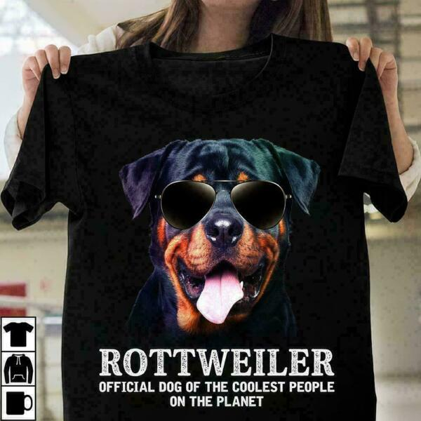 Rottweiler Official Dog Of The The Coolest People Lover Dog Gift T Shirt $9.39