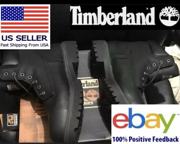 NEW Size 13 Timberland PRO Men#x27;s 26038 Direct Attach 6quot; Steel Toe Black $120.00