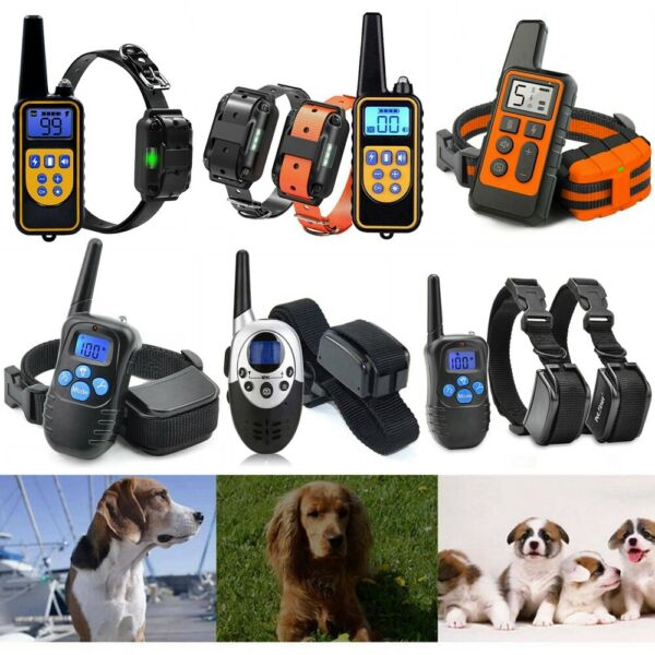 Rechargeable 1000yd Remote Dog Training Shock Collar Waterproof Hunting Trainer $31.96