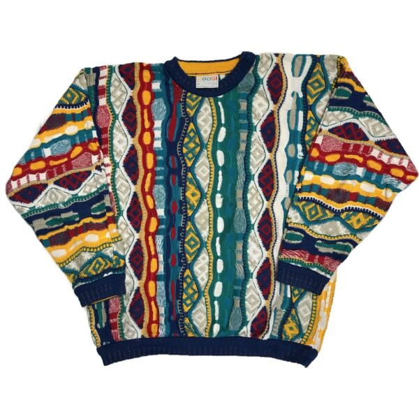 Vintage 90s Coogi Knit Textured Sweater Size M Biggie $220.00