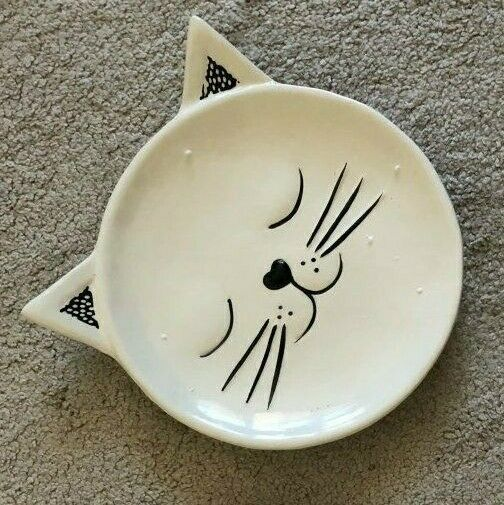 Japanese Ceramic Dishes Creative Cat Design Plate Food Serving Pastries Snack $14.99