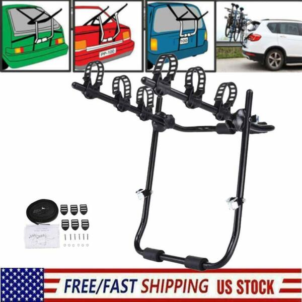 Trunk Mount 3 Bike Rack Bicycle Carrier Hatchback SUV Car Outdoor Qucik Release $42.99