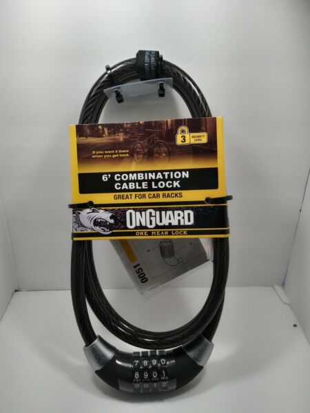 OnGuard 6 Foot Combination Heavy Duty 12mm Cable Bike LockGreat For Car Racks $14.62