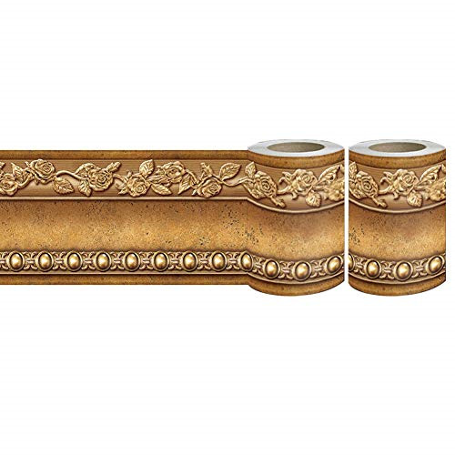 Peel and Stick Wall Border Easy to Apply Band Wall Paper 2 Gold Brown