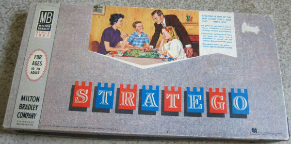 Milton Bradley Stratego Vintage Board Game #4916 manufactured 1961