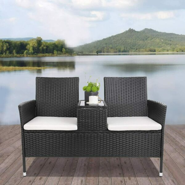 Patio Wicker Furniture Outdoor Rattan Sofa Garden Conversation Set