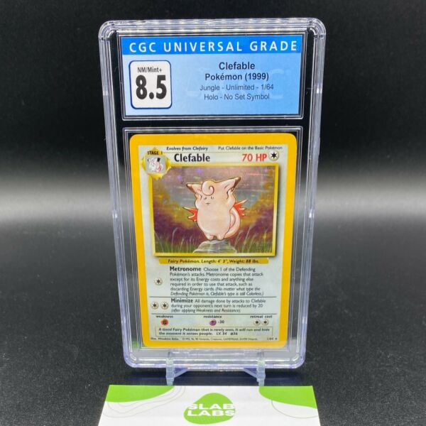 Clefable Jungle Holo Rare No Symbol Error 1 64 CGC 8.5 NM Mint PSA BGS $122.99