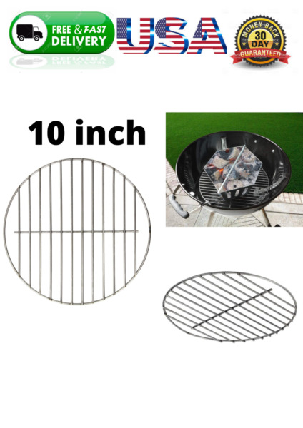 Cooking Replacement 10.5quot; Crome Grill Grate Round Smoker Vertical BBQ For Weber