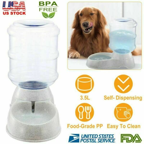 Automatic Dog Waterer 1 Gallon Auto Water Dispenser Cat Pet Drinking Fountain $16.58