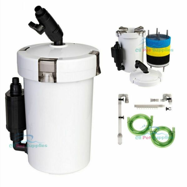Mini External Canister Filter L Table Top Nano Fresh Salt Aquarium $15.98