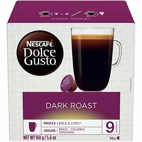 Nescafe Dolce Gusto Coffee Pods Dark Roast 16 capsules Pack of 3