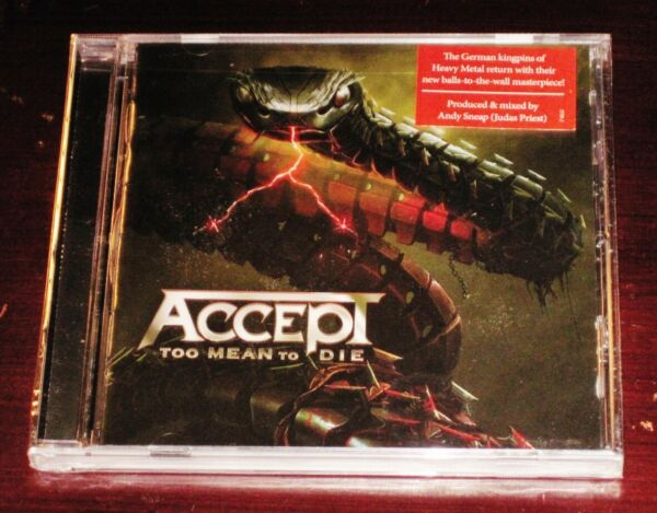 Accept: Too Mean To Die CD 2021 Nuclear Blast Records USA NB 5750 2 NEW