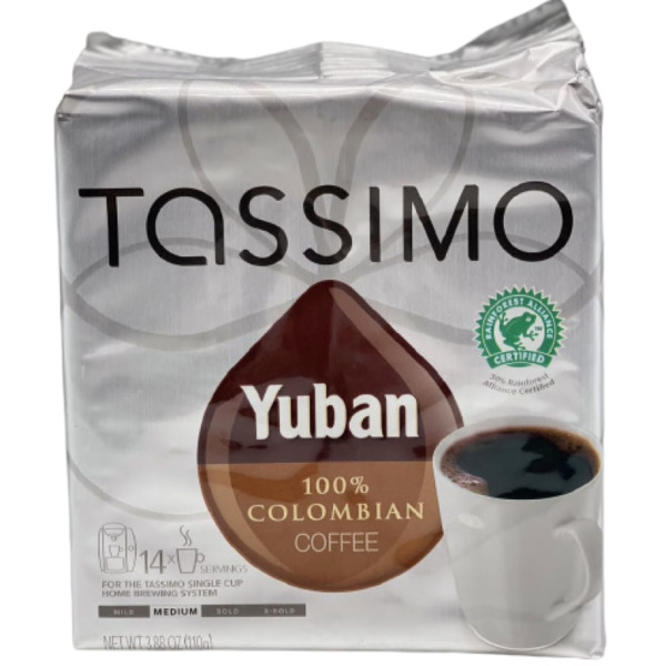 Tassimo Yuban 100% Colombian Coffee 14 Discs