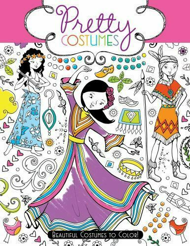 Pretty Costumes: Beautiful Costumes to Color VeryGood Book 0 Paperback $4.98