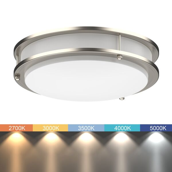 LED Ceiling Light ALL IN ONE Adjustable Light Color Dimmable 10quot; 12quot; 14quot; $53.99