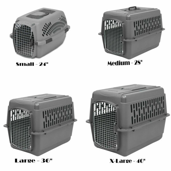 Dog Crate Carrier Kennel Durable Ventilated Plastic Transport Portable 24quot; 40quot; $151.00