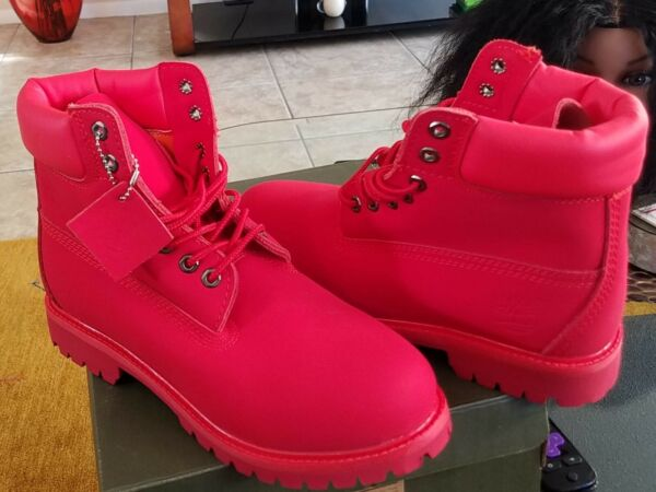 Timberland boots 6 inch Red waterproof $145.00