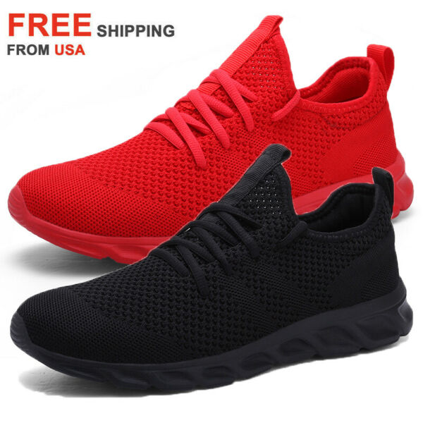 Men#x27;s Casual Sneakers Tennis Outdoor Gym Athletic Running Walking Jogging Shoes