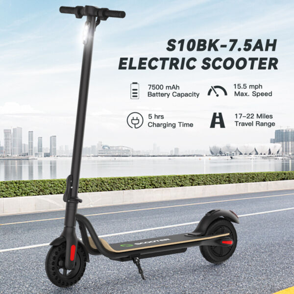 MEGAWHEELS S10 FOLDABLE ADULT ELECTRIC SCOOTER 8.0quot; HONEYCOMB TIRE 250W MOTOR $219.44
