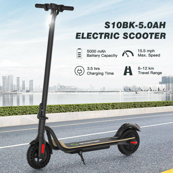 MEGAWHEELS S10 FOLDABLE ADULT ELECTRIC SCOOTER 8.0quot; HONEYCOMB TIRE 250W MOTOR $219.95