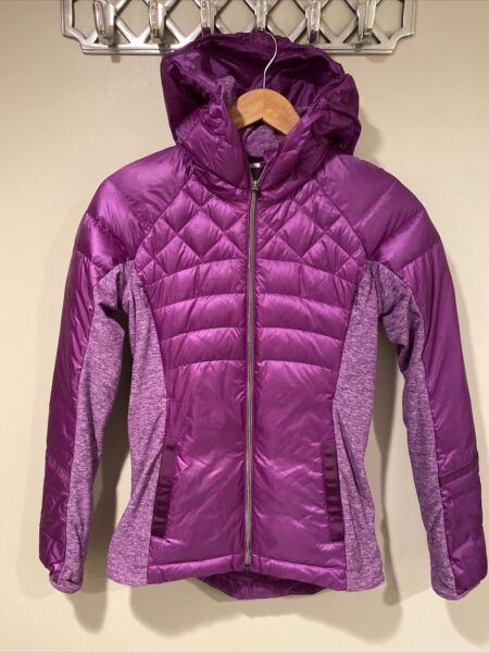Lululemon Down For It A Run Goose Puffer Quilted Jacket Womens Size 4 Purple $80.00