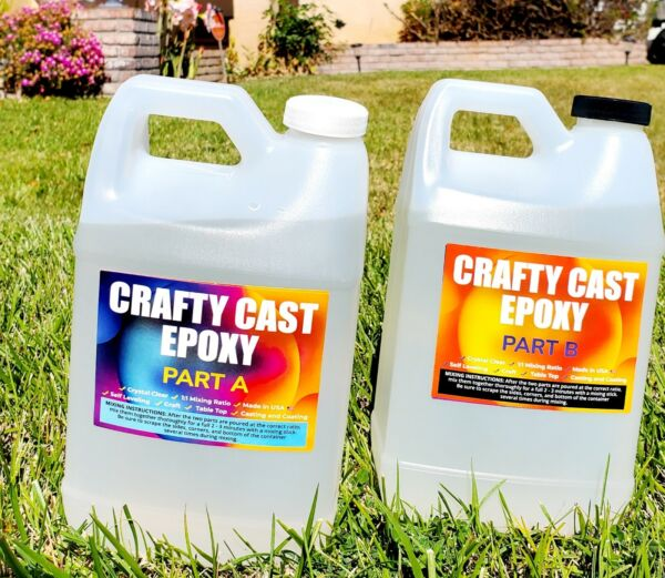 Crystal Clear. Super Gloss arts and crafts epoxy resin 1 Gallon Kit $44.89