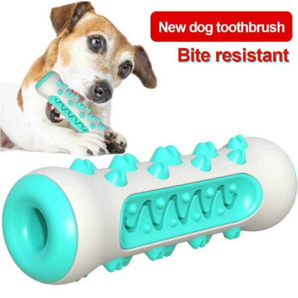 Pet Toy Dog Chew Aggressive Chewers Teeth Cleaning Bone Oral Rubber Toothbrush $10.99