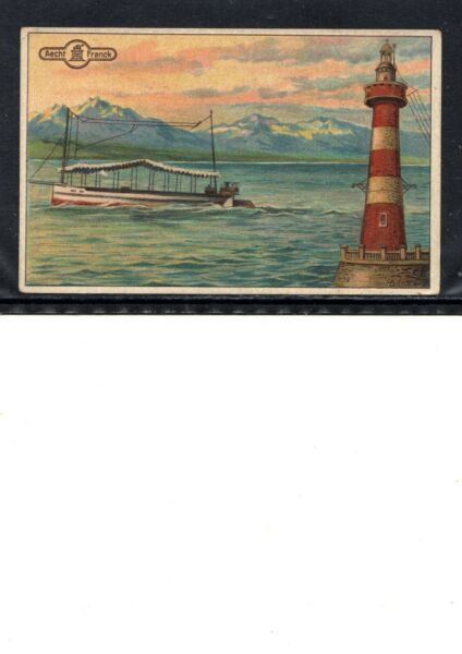 VERY EARLY LIGHTHOUSE COFFEE TRADE CARD VERY EARLY LIGHTHOUSE