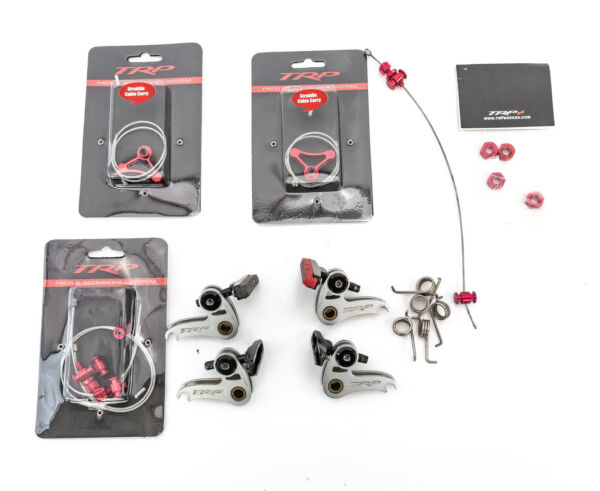 TRP Euro X Cantilever Rim Brake Set Parts Front Rear Silver Red Cross Touring $69.99