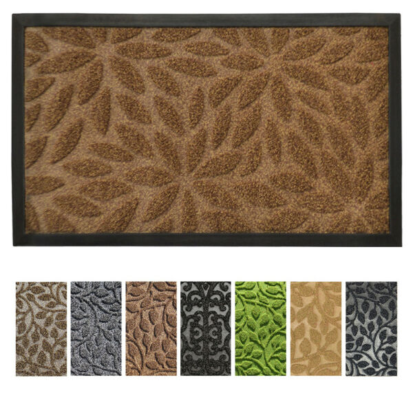 gb Home Collection Doormat 18 x 30 Brown Indoor Outdoor Door Mat Low Profile