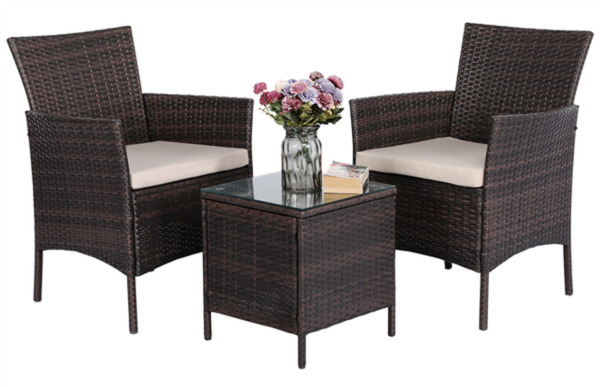 3 Piece Patio With Chairs Set Perfect For Outdoors And Summer Modern $286.44