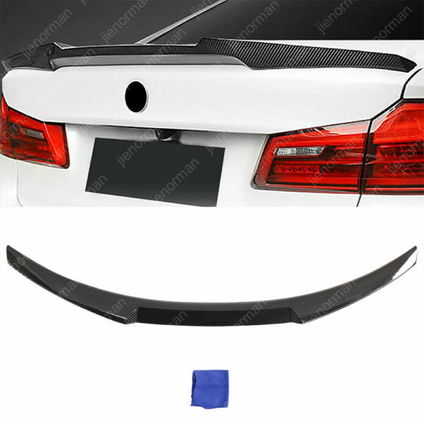 Carbon Fiber Look Rear Spoiler Trunk Wing M4 Style for BMW 3 Series M3 E90 06 11