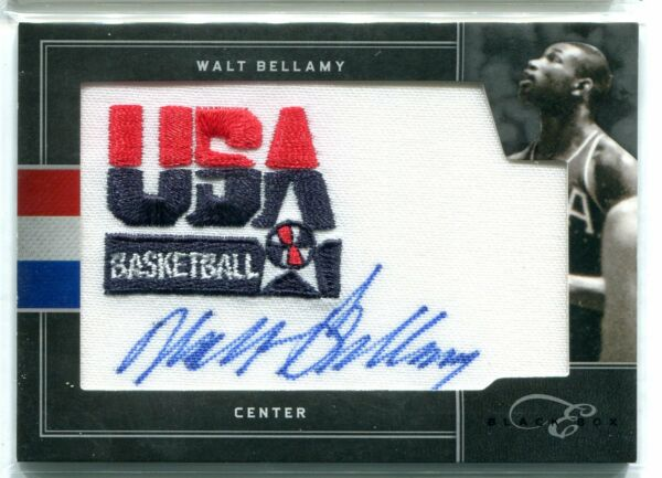 2010 11 Panini Black Box Elite Walt Bellamy USA Basketball Patch AUTO 17 25 HOF