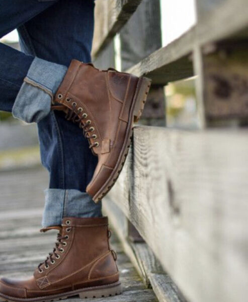 Timberland Earthkeepers 15551 Brown Leather 6quot; Lace Up Trail MEN#x27;S Boots SZ 9.5 $120.00