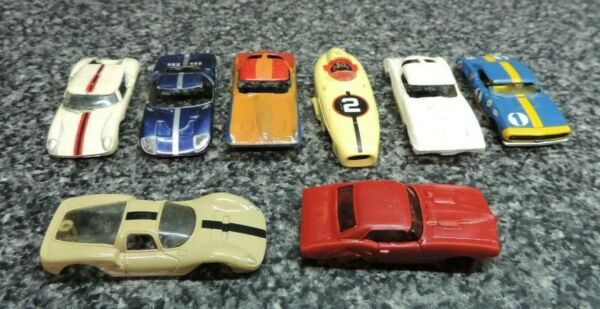 Aurora Model Motoring Thunderjet Ho Slot Car Runner Body Lot 1960#x27;s
