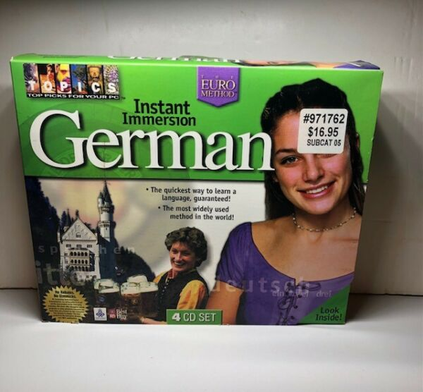 INSTANT IMMERSION GERMAN 4 CD ROM DELUXE EDITION $12.95